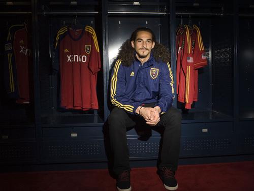 Keith Johnson | The Salt Lake Tribune  Real Salt Lake rookie Devon Sandoval at Rio Tinto Stadium in Sandy, Utah, November 19, 2013.