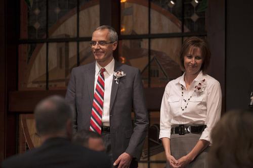 | Courtesy SUU Publications SUU President Scott Wyatt, along with his wife, Kathy.