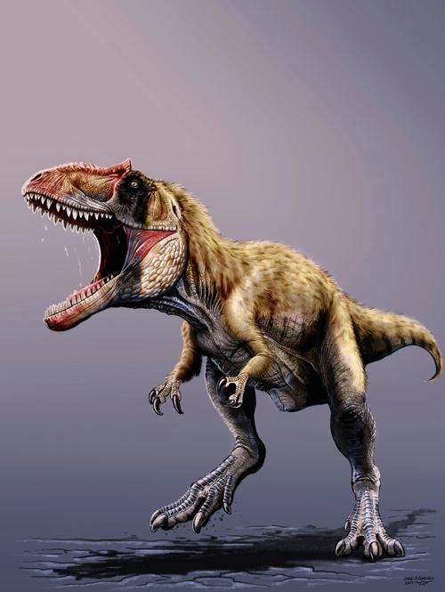 Courtesy photo A rendering of Siats meekerorum, a large apex predator whose bones were found in Eastern Utah in 2008.