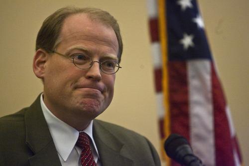 Chris Detrick | The Salt Lake Tribune  Rep. Kraig Powell, R-Heber City, speaks at the Utah State Capitol