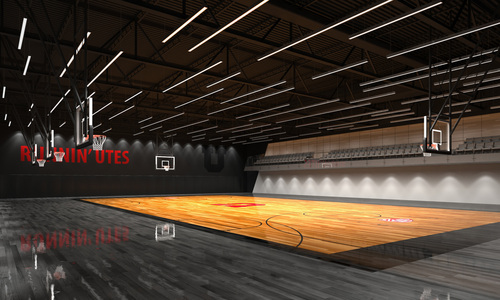 A rendering of the planned Utah Basketball Center. Courtesy image