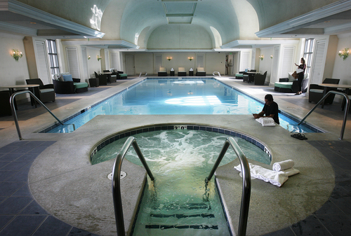 Scott Sommerdorf   |  The Salt Lake Tribune The indoor pool of the recently remodeled Grand Spa at the Grand America Hotel in Salt Lake City.