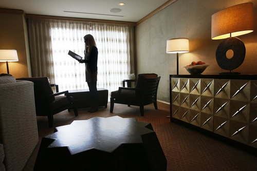 Scott Sommerdorf   |  The Salt Lake Tribune The couples waiting area at the Grand Spa.