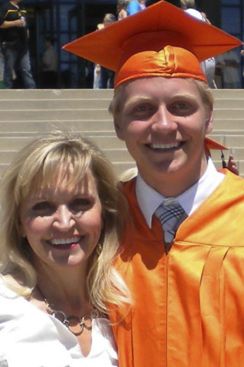 | Courtesy Lori Webb Chandler Webb at his graduation from Brighton High School with his mother, Lori Webb.