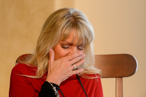 Trent Nelson  |  The Salt Lake Tribune Lori Webb believes that an adverse reaction to a flu shot killed her 19-year-old son Chandler Webb. Friday November 22, 2013 in Sandy.