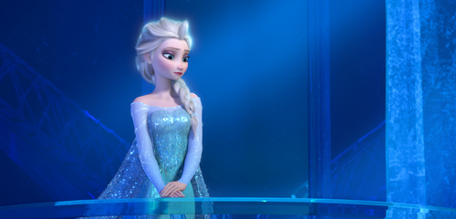 """This image released by Disney shows a teenage Elsa the Snow Queen, voiced by Maia Mitchell, in a scene from the animated feature """"Frozen."""" (AP Photo/Disney)"""