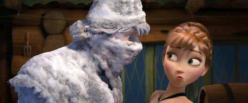 """Courtesy photo Kristoff, voiced by Jonathan Groff, left, and Anna, voiced by Kristen Bell, in a scene from the animated feature """"Frozen."""""""