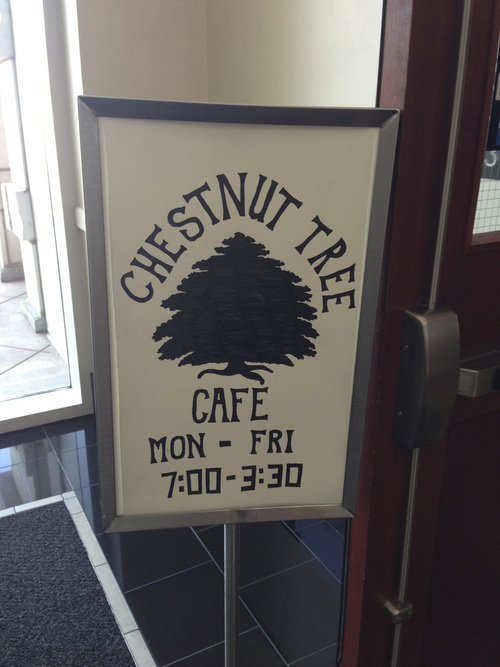 "Jim Dalrymple | The Salt Lake Tribune The Chestnut Tree Cafe, apparently named for its counterpart in the book ""1984,"" is located in Salt Lake City's Matheson Courthouse."