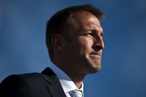 Chris Detrick  |  The Salt Lake Tribune  Real Salt Lake coach Jason Kreis speaks during a kickoff event to celebrate the future site of the Salt Lake Regional Athletic Complex at 2199 North and 1912 West Friday November 5, 2010.
