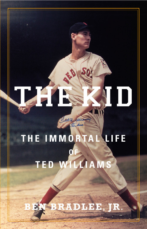 """This book cover image released by Little, Brown and Company shows """"The Kid: The Immortal Life of Ted Williams,"""" by Ben Bradlee, Jr. (AP Photo/Little, Brown and Company)"""