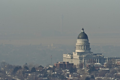 Chris Detrick  |  Tribune file photo  Utah regulators on Wednesday approved a plan to improve the Wasatch Front's wintertime air quality. Inversions like this one in January 2013 traps particulate pollution near the ground.