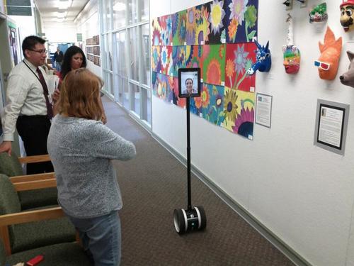 Courtesy photo Double robotics telepresence robot