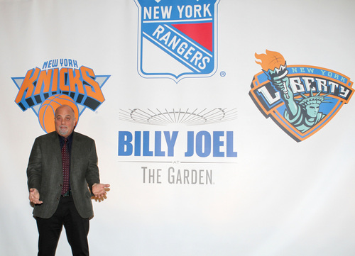 """Musician Billy Joel participates in a press conference to announce """"Billy Joel at the Garden,"""" the first ever music franchise held at the venue, at Madison Square Garden on Tuesday, December 3, 2013, in New York. The music icon will perform a residency at Madison Square Garden once a month for as many months as New Yorkers demand. He's set to perform sold-out shows on Jan. 27, Feb. 3, March 21 and April 28, 2014. (Photo by Greg Allen/Invision/AP)"""