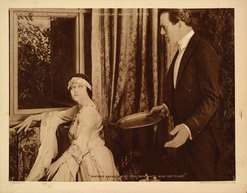 """This undated handout image provided by the Library of Congress shows a scene from Cecil B. DeMille'ssilent film """"Male and Female"""". The Library of Congress has conducted the first comprehensive survey of American feature-length silent films and found 70 percent of them have been lost. Of the nearly 11,000 silent feature films made in America between 1912 and 1930, the survey found only 14 percent still exist in their original format. About 11 percent of the films that survive only exist as foreign versions or on lower-quality formats.  (AP Photo/Library of Congress)"""
