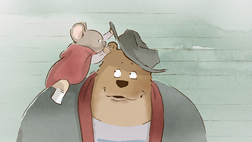 """A mouse befriends a bear in the animated tale """"Ernest & Celestine,"""" one of the films in the new Sundance Kids program at the 2014 Sundance Film Festival. Courtesy Sundance Institute"""