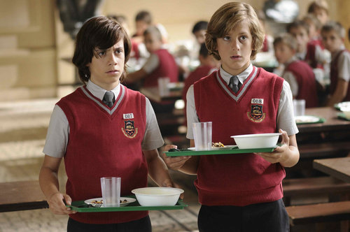 """Troublemaking boys Zip (Daniel Cerezo, left) and Zap (Ral Rivas) land in a re-education center in the Spanish adventure """"Zip & Zap and the Marble Gang,"""" one of the films in the new Sundance Kids program at the 2014 Sundance Film Festival. Courtesy Sundance Institute"""