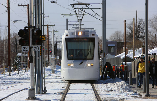 Francisco Kjolseth  |  Tribune file photo Mayor Ralph Becker is moving forward with a plan for a downtown streetcar that would act as a circulator for the central business district, connect to the Granary District near 900 South and 200 West, and could link to the University of Utah via 100 South or 200 South. The Sugar House Streetcar, which began operating Dec. 1, is shown here.