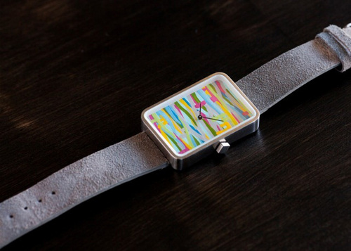 Cayce Clifford | Courtesy Schmutz Watches A watch with a design by Salt Lake City artist Trent Call is one of the featured items by Salt Lake City company Schmutz Watches, which is seeking $25,000 in a Kickstarter campaign.