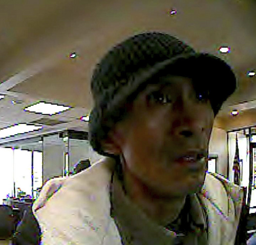 | Courtesy  Salt Lake City police are seeking the public's help to identify and locate a man suspected of robbing the Brighton Bank at 1420 S. 300 West  on Thursday morning.