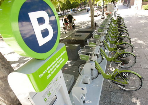 Steve Griffin | Tribune file photo  GREENbike, Salt Lake City's bike share program, is shutting down for the winter.