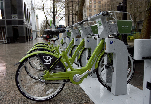 |  Tribune file photo  Salt Lake City's GREENbike bicycle sharing program is shutting down for the winter.