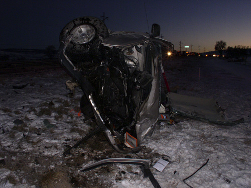 | Courtesy A head-on collision killed two people Dec. 12 in Sanpete County, near Axtell.