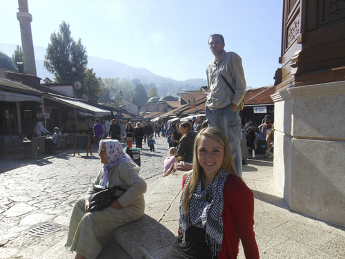 | Courtesy of McKenzie Giles McKenzie Giles on her LDS mission in Sarajevo, Bosnia