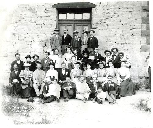 The Utah Press Association in 1898. Courtesy Utah State Historical Society