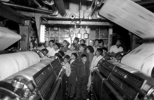 Photo Courtesy Utah State Historical Society  A group of American Indian children visiting the Salt Lake Tribune/Telegram plant in Whiterocks, Utah in 1939.