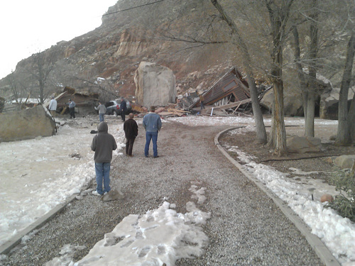 | Courtesy Alex Gardner A rock slide Thursday destroyed a home and killed two people in Rockville.