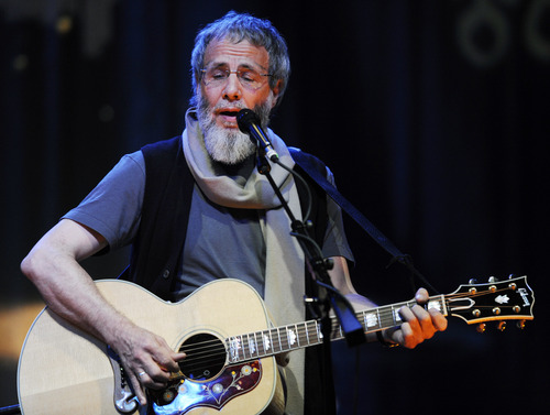 FILE - This May 11, 2009 file photo shows Yusuf Islam, previously Cat Stevens, during a sound check for his concert at the El Rey Theater in Los Angeles. Islam will be inducted into the 2014 Rock and Roll Hall of Fame on April 10 at the Barclays Center in New York.  (AP Photo/Chris Pizzello)