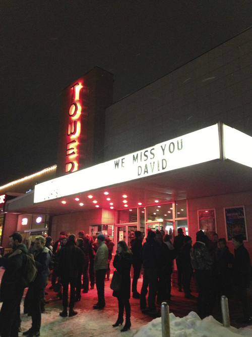 Courtesy photo Remembering David Fetzer with a film retrospective at Tower Theatre, a day after his funeral in December 2012.
