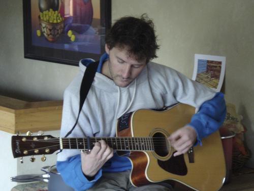 Courtesy photo David Fetzer playing guitar.