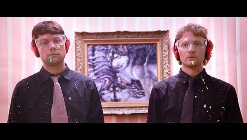 Courtesy photo David Fetzer, right, and Patrick Fugit in a music video for their rock group, Mushman