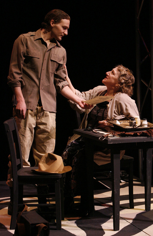 """Tribune file photo """"I was blown away by David's Everett Ruess, so much so I can't imagine anyone else doing the role,"""" says """"Horizon"""" playwright Debora Threedy of David Fetzer. """"He so perfectly embodied this character who marched to his own drummer."""""""