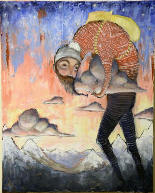 Al Hartmann  |  The Salt Lake Tribune Tantamount, 2013 oil by Natalie Kaye Soper currently on display at the Springville Art Museum's annual Spiritual Art exhibit.