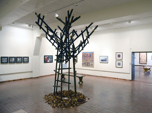 Al Hartmann  |  The Salt Lake Tribune As I Was Climbing My Family Tree, 2013 wood assembly by Adam D. Thomas currently on display at the Springville Art Museum's annual Spiritual Art exhibit.