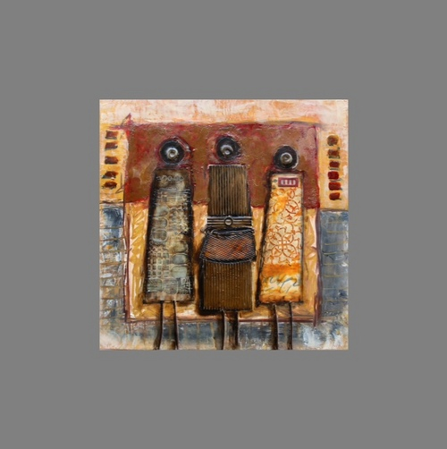 Cynthia L. Clark, Magi or Matriarchs, at the Springville Museum of Art's Spiritual & Religious Show Courtesy image