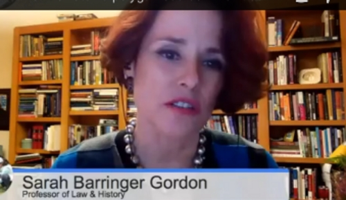 Law professor Sarah Barringer Gordon was a guest on Trib Talk on Dec. 17, 2013.