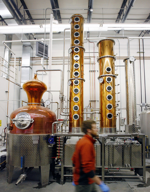 |  Tribune file photo The state of Utah issued has issued two new distillery licenses. The businesses will join a growing Utah distillery industry that includes Park City's High West Distillery & Saloon, whose equipment is seen here in this 2012 photo.