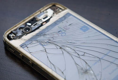 Keith Johnson | The Salt Lake Tribune  An iPhone that has been abused by a teenager.