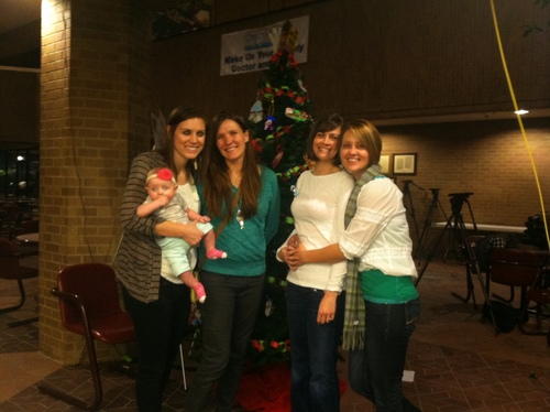 (Candice Green courtesy photo) Megan Berret (left) and Candice Green Berret, with their baby, Quinn, were married Friday after a federal judge struck down Utah's constitutional amendment and laws preventing same-sex marriage. Standing with them are Heidi Patterson Justice and Jamie Justice, who were also married Friday.