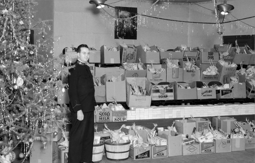 Photo Courtesy Utah State Historical Society  Salvation Army, Christmas Boxes, 12/24/37.