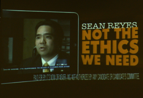 Rick Egan  | The Salt Lake Tribune   A negative ad about Sean Reyes was discussed as the House Special Investigative Committee reports on its findings in the John Swallow probe at the Utah State Capitol, Friday, December 20, 2013.