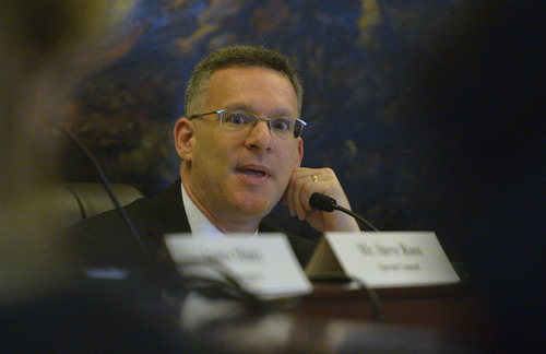 Rick Egan  | The Salt Lake Tribune   Special Counsel Steve Reich makes a comment as the House Special Investigative Committee reports on its findings in the John Swallow probe at the Utah State Capitol, Friday, December 20, 2013.