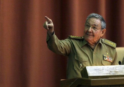 """Cuba's President Raul Castro delivers his speech at the closing of the second day of a twice-annual legislative sessions, at the National Assembly in Havana, Cuba, Saturday, Dec. 21, 2013. Castro issued a stern warning to entrepreneurs pushing the boundaries of Cuba's economic reform, saying """"those pressuring us to move faster are moving us toward failure.""""(AP Photo/Cubadebate, Ismael Francisco)"""