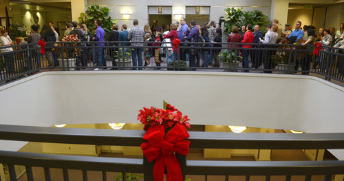 Steve Griffin  |  The Salt Lake Tribune    gay couples get married at the Hampton Inn in Ogden, Utah Monday, December 23, 2013.