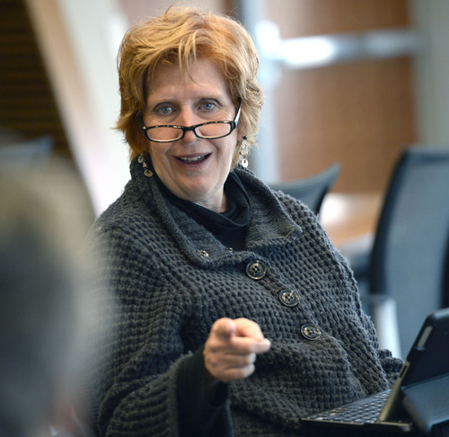 Al Hartmann  |  The Salt Lake Tribune Jill Remington Love meets with members of community councils to discuss neighborhood issues Thursday Dec. 5, 2013. She is leaving the Salt Lake City Council after three four-year terms.