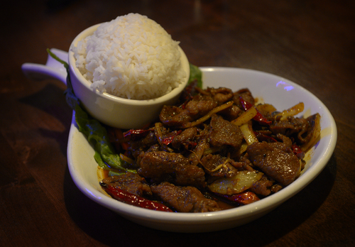Rick Egan  | The Salt Lake Tribune   Top Utah dishes of 2013: Chilli Spiced Flank Steak (BÚ X‡o SÂ Ot) at Indochine Vietnamese Bistro in Salt Lake City.