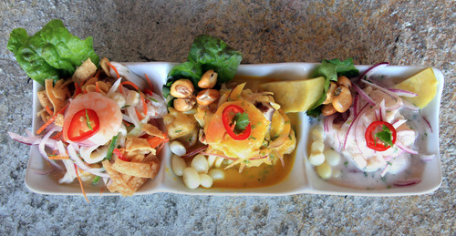 Rick Egan  | The Salt Lake Tribune  Top Utah dishes of 2013: Hidden in a South Salt Lake business park, Del Mar al Lago Cebichera Peruana is serving up high-end Peruvian-style ceviche and seafood dishes that are worth the effort to seek out.